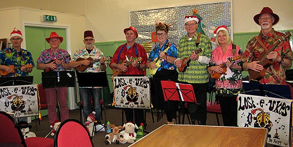 Losty Ukes at Elderberries Christmas Party